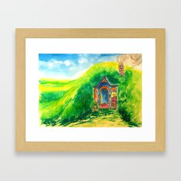 Grandma hobbit's home Framed Art Print