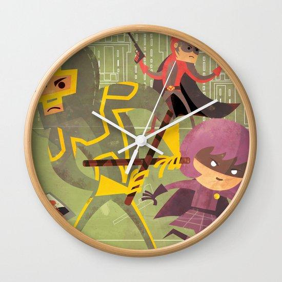 kick ass fan art 2 Wall Clock