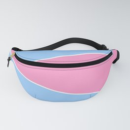 just two colors 7: blue and pink Fanny Pack
