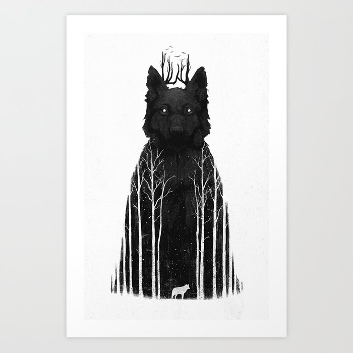 The Wolf King Art Print