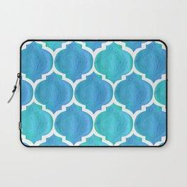 Blue Arabesque Laptop Sleeve