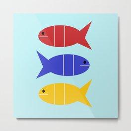 Tres Fishes Metal Print