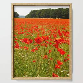 Sea of Normandy Poppies Serving Tray