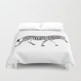 Disappearing Zebra Duvet Cover