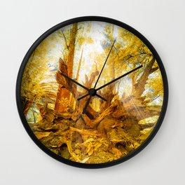 Dried Oak Wall Clock