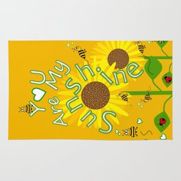 Sunshine And Sunflowers Rug