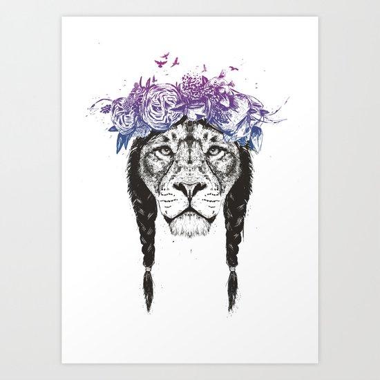 King of lions Art Print