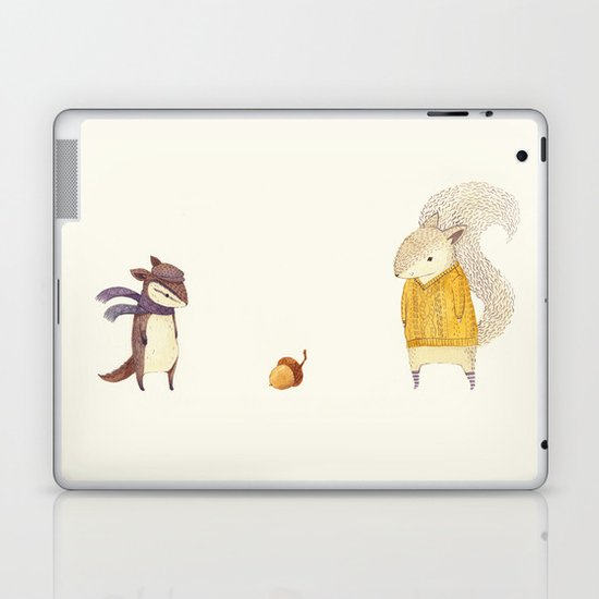 The Last Acorn of Autumn Laptop & iPad Skin