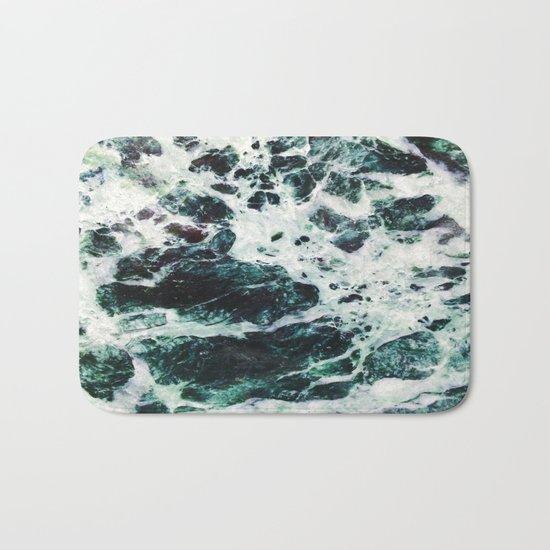 Green Marble  Bath Mat