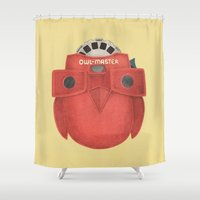 owl Shower Curtains featuring Owl-Master by Terry Fan