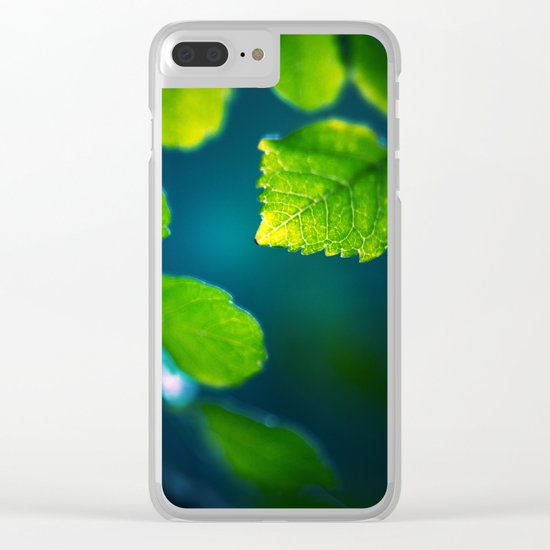 Nature Blues Clear iPhone Case