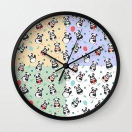 Cute pandas Pattern Wall Clock