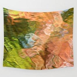 Salmon Mosaic Abstract Art Wall Tapestry