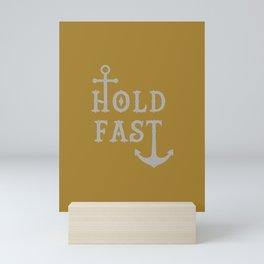Hold Fast Anchor Gold/Silver Mini Art Print