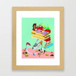 w_rap Framed Art Print