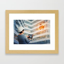 civil engneering Framed Art Print