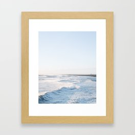 Golden waves - Iceland | landscape - photography - travel - nature - print - photo Framed Art Print