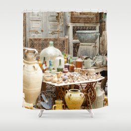 Market Djerba Tunisia Shower Curtain