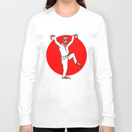 Sloth Karate Long Sleeve T-shirt