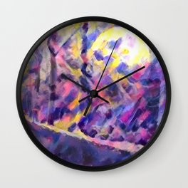 Moonlit Drive Wall Clock