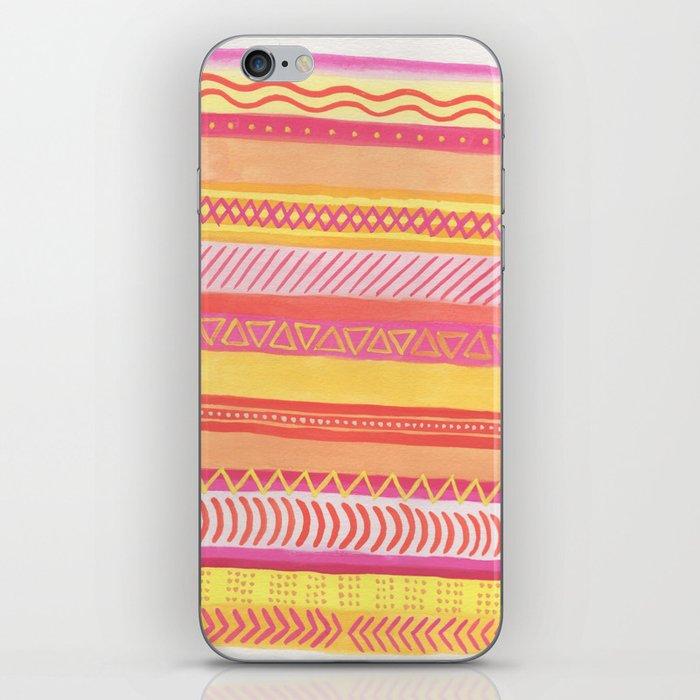 Tribal#1 (Orange/Pink/Yellow) iPhone Skin