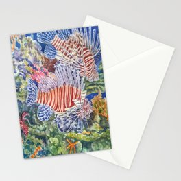 Red Lionfish Stationery Cards