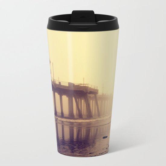Huntington Beach Pier Metal Travel Mug