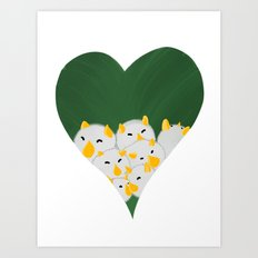 Cuddlebats Art Print