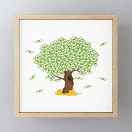 Tree of Money T-shirt Design For those who wants to have luck. Here's a tree of dollars. A must have Framed Mini Art Print