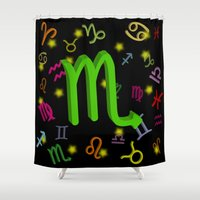 scorpio Shower Curtains featuring Scorpio by The Image Zone