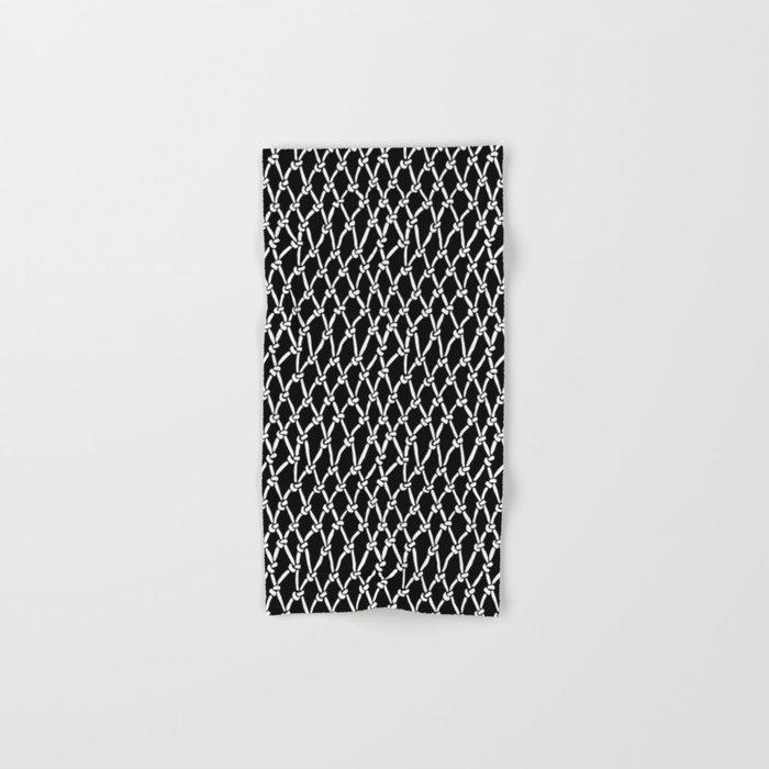 Net Black Hand & Bath Towel