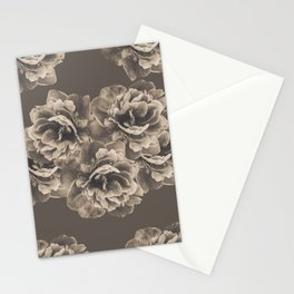 Sepia Peony Flower Bouquet #1 #floral #decor #art #society6 Stationery Cards