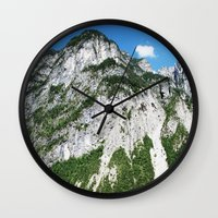 italian Wall Clocks featuring Italian alps by Carlo Toffolo