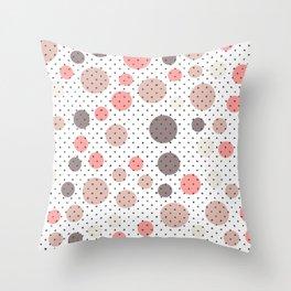 Scandinavian floral seamless pattern Throw Pillow