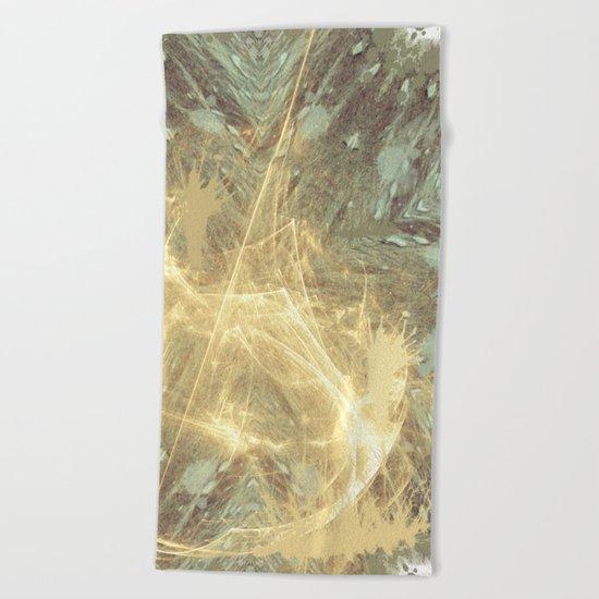 Kaos theory mandala Beach Towel