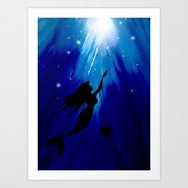 Ariel Under The Sea Art Print
