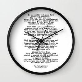 The Four Agreements #minimalist 3 Wall Clock