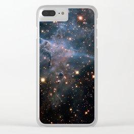 Mystic Mountain Nebula Clear iPhone Case