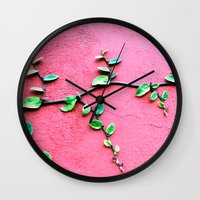 plant Wall Clocks featuring plant by Baptiste Riethmann