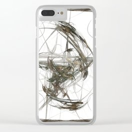 Balance in Distortion Clear iPhone Case