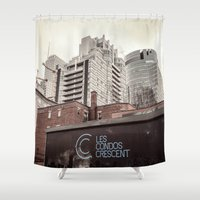 montreal Shower Curtains featuring Montreal -Alley by Doug Dugas