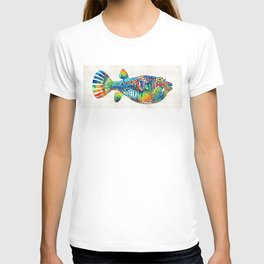 Puffer Fish Art - Blow Puff - By Sharon Cummings T-shirt