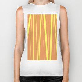 Orange And Yellow Stripes - Abstract Sunshine Biker Tank