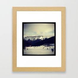 snowy mountain colorado  Framed Art Print