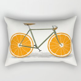 Zest (Orange Wheels) Rectangular Pillow