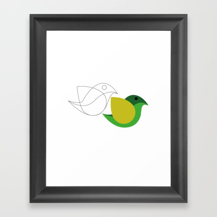 Bird is the word Framed Art Print