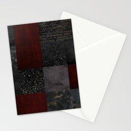 Patchwork (Burgundy + Black) Stationery Cards