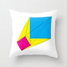 CMYK Throw Pillow