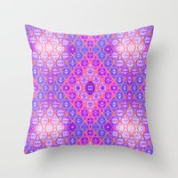 kilim Throw Pillows featuring Kilim 3 by EllaJo Design