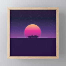 80s Retro Sunset Car Framed Mini Art Print